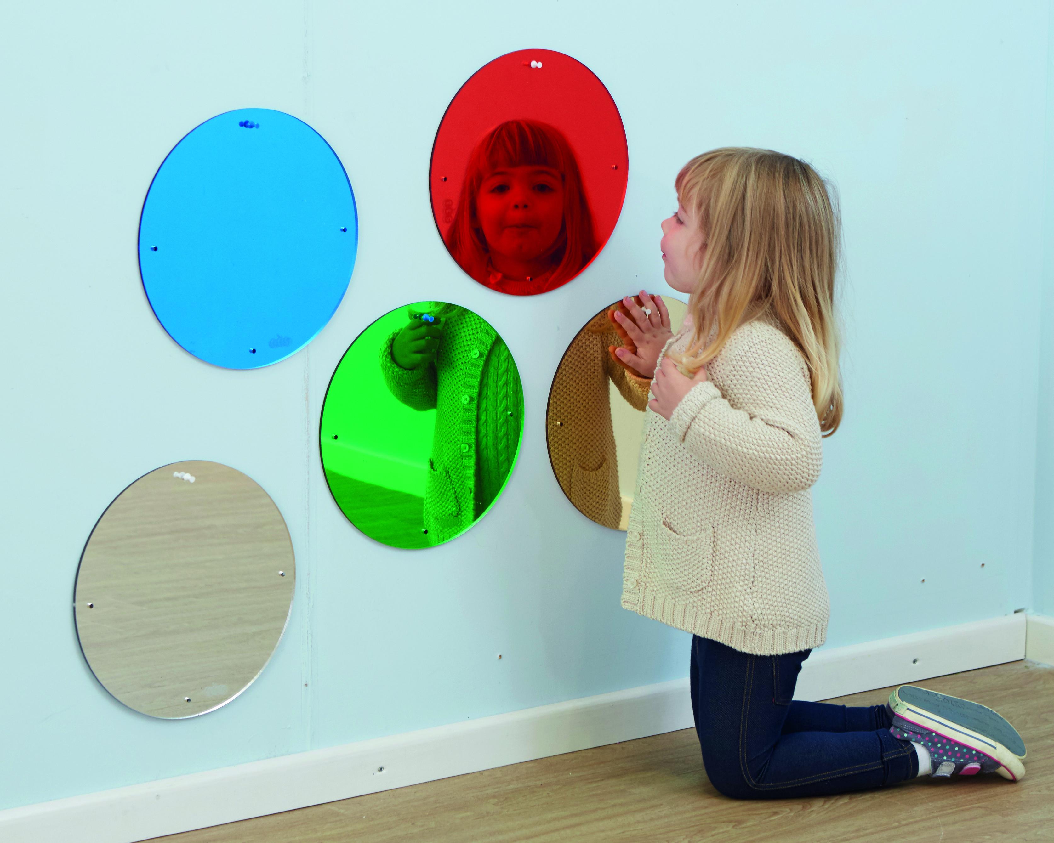 Ronde Spiegel Groot : Gekleurde ronde spiegels groot u2013 de biotoop